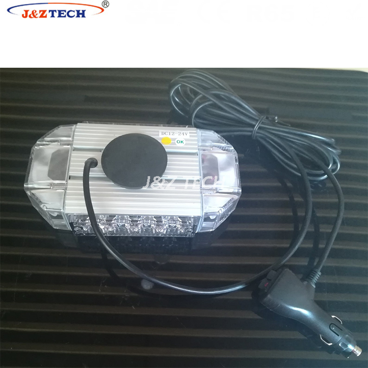 Sales promotion amber police strobe led mini aluminum housing lightbar