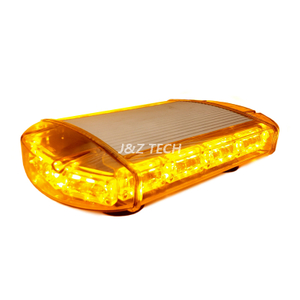 12V Amber Super Bright Led Mini Police Warning Strobe Lightbar